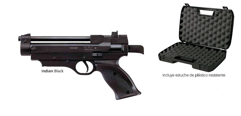 Pistola mod. Indian Black + maletín opcional de Cometa Airgun